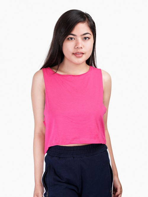 Hot Pink Basic Tank Top