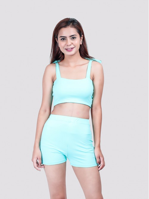 Mint Green Shoulder Tie up Bralet
