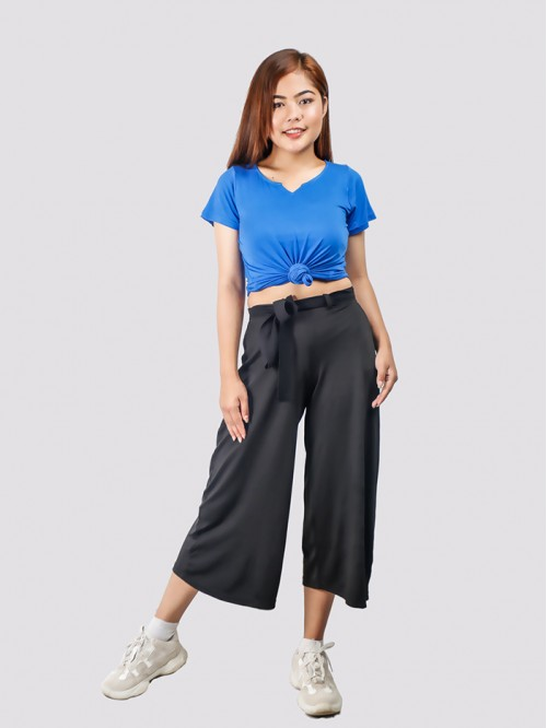 Black Flare Quarter Trouser