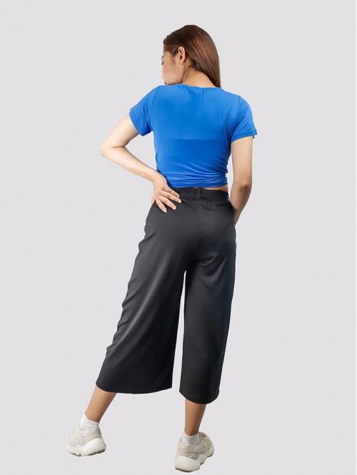 Black Flare Quarter Trouser